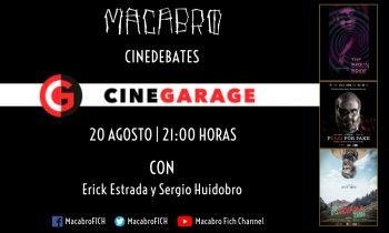 Cinedebate Macabro Cinegarage. Con Erick Estrada y Sergio Huidobro.
